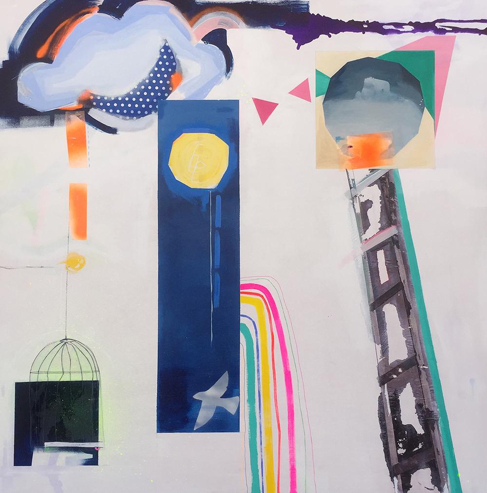 homenaje a la luna arte contemporaneo cris aliste pintura