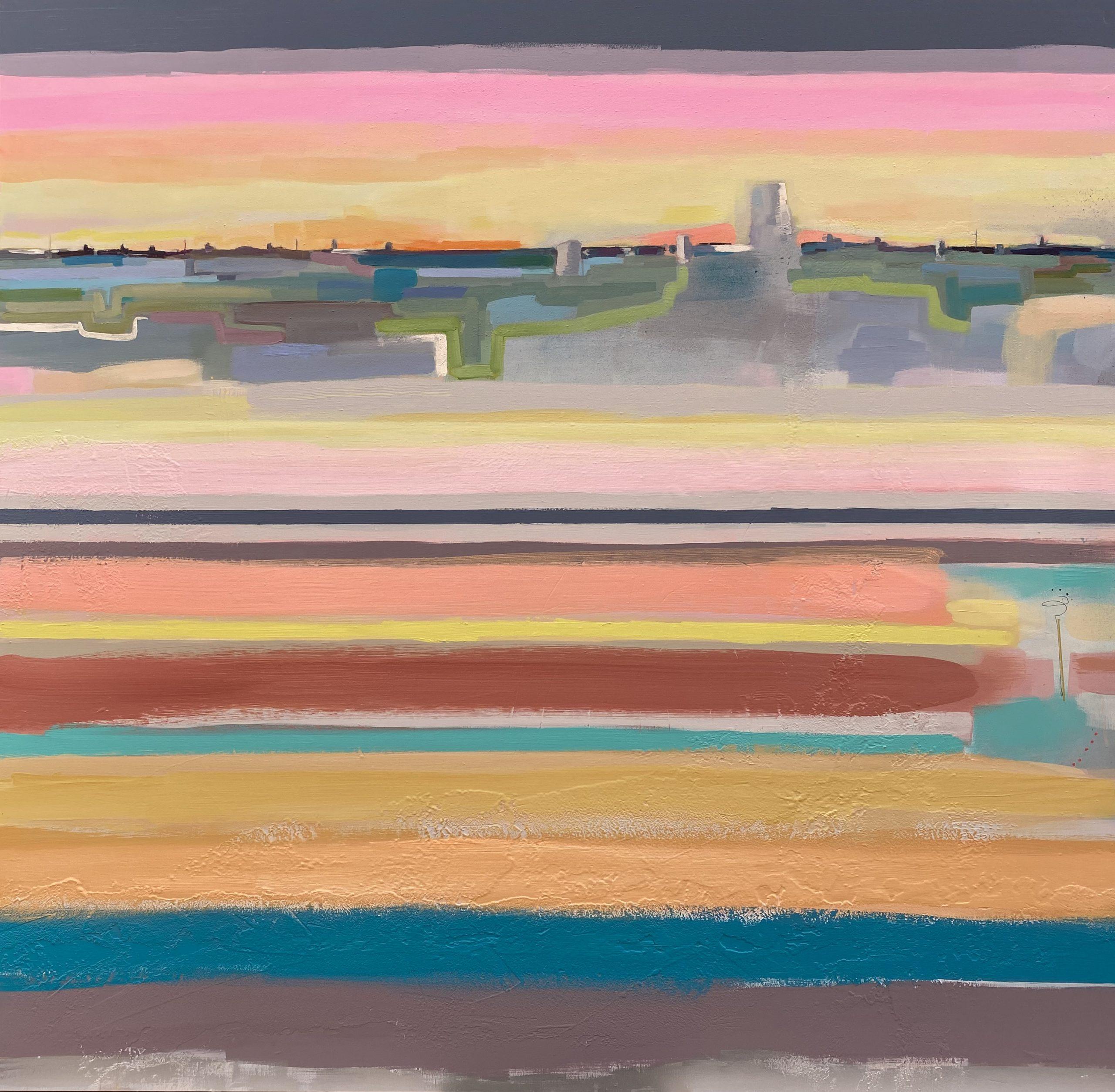 arte contemporaneo-rayas-colorido
